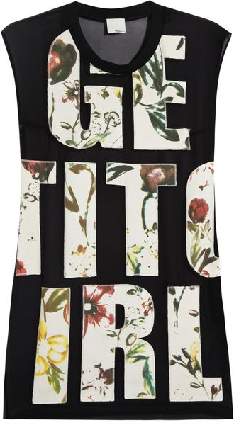 3.1 Phillip Lim Get It Girl Cotton Appliquéd Silk Chiffon Top - Lyst
