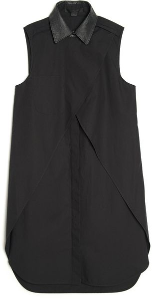 Alexander Wang Sleeveless Shirt Dress - Lyst