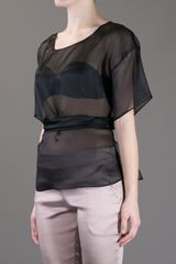 Anne Valerie Hash Phi Cut Out Blouse in Black - Lyst
