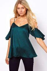 ASOS Collection Cami with Cold Shoulders and Ruffle Sleeves - Lyst
