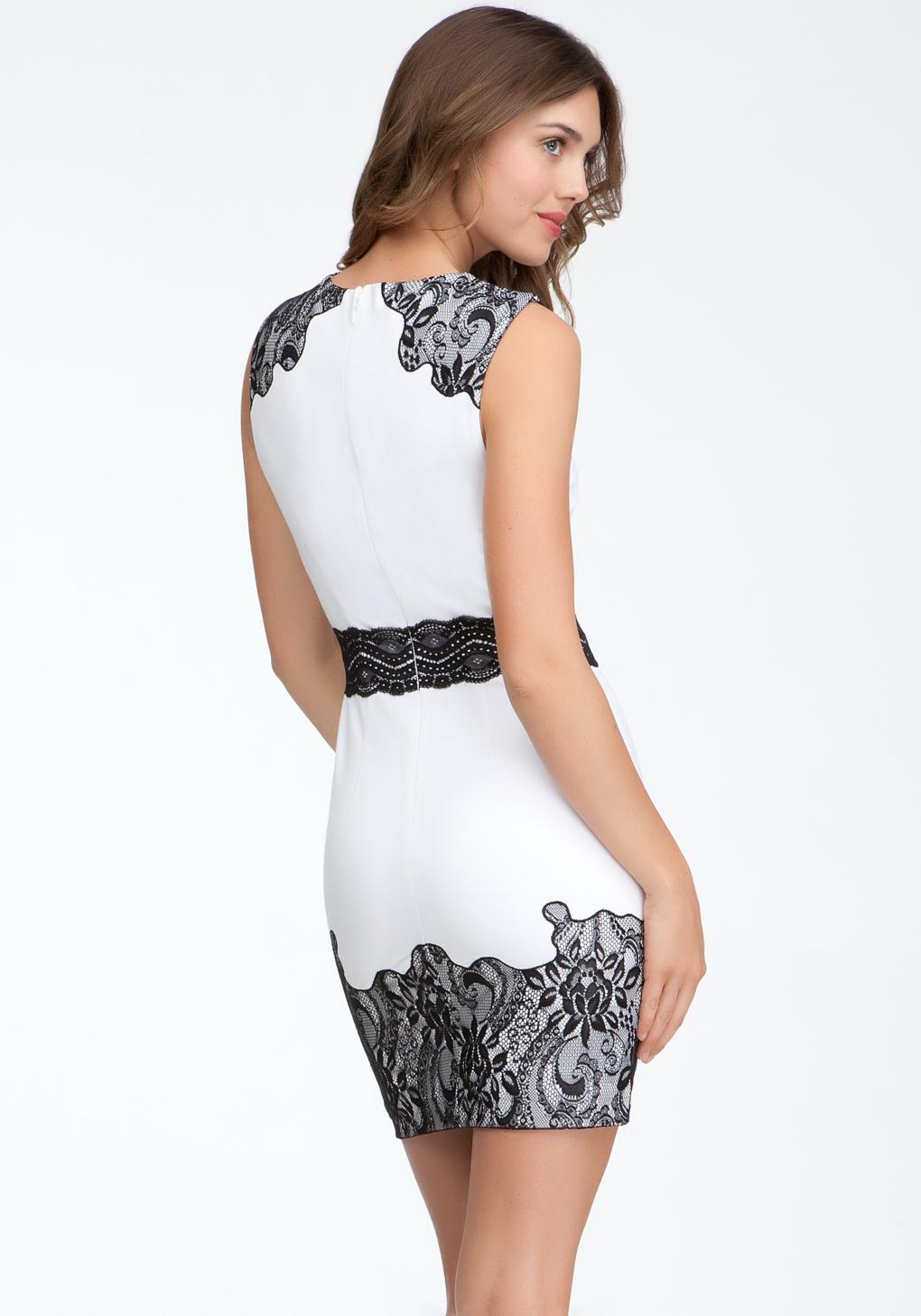 ff532d9e44 White And Black Dress Bebe – Little Black Dress   Black Lace ...