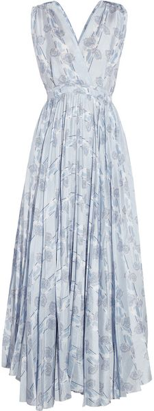 Boy by Band Of Outsiders Floral Print Silk Maxi Dress - Lyst