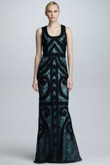 Carolina Herrera Swirl Embroidered Gown - Lyst
