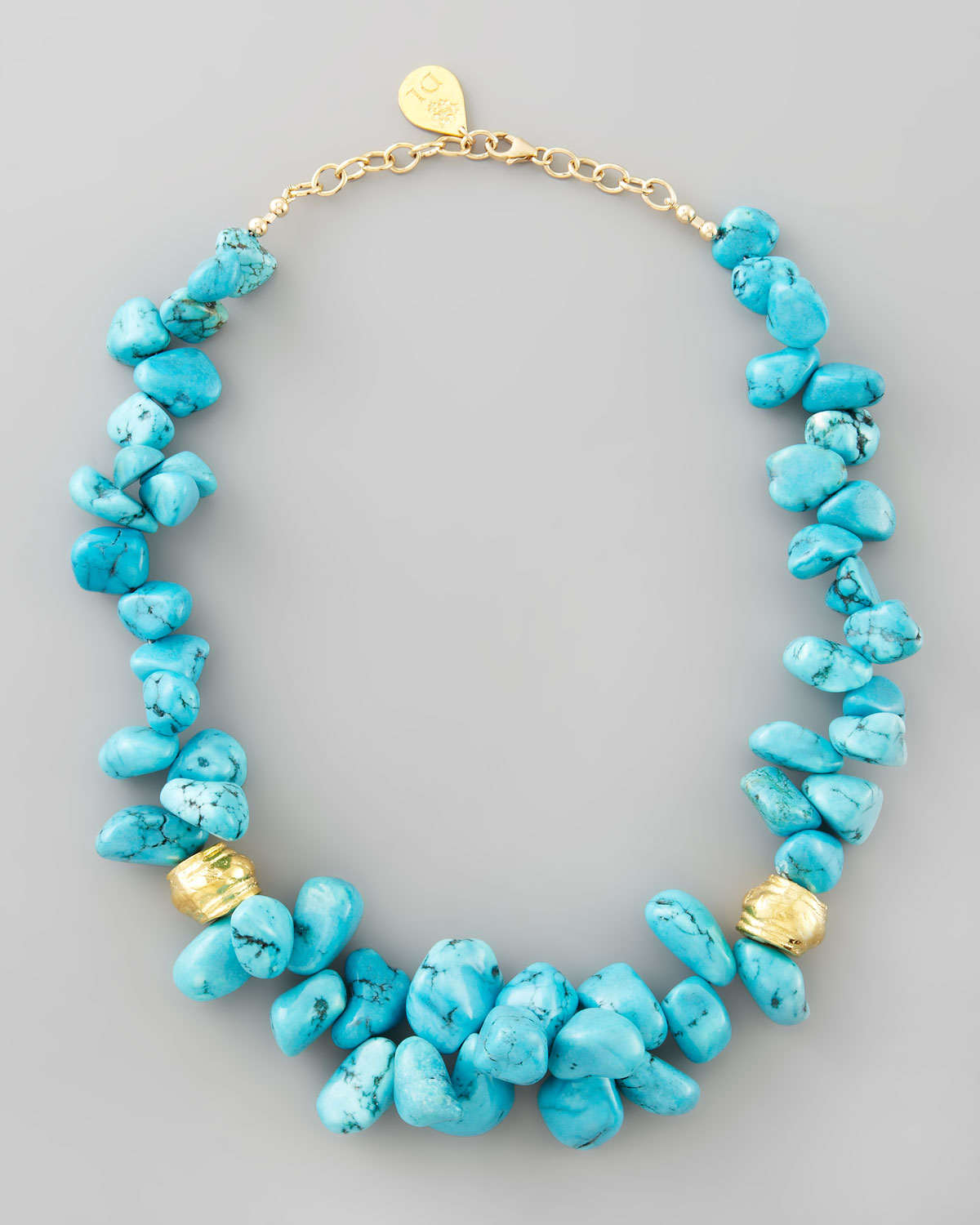 leigh turquoise cluster beaded necklace in blue