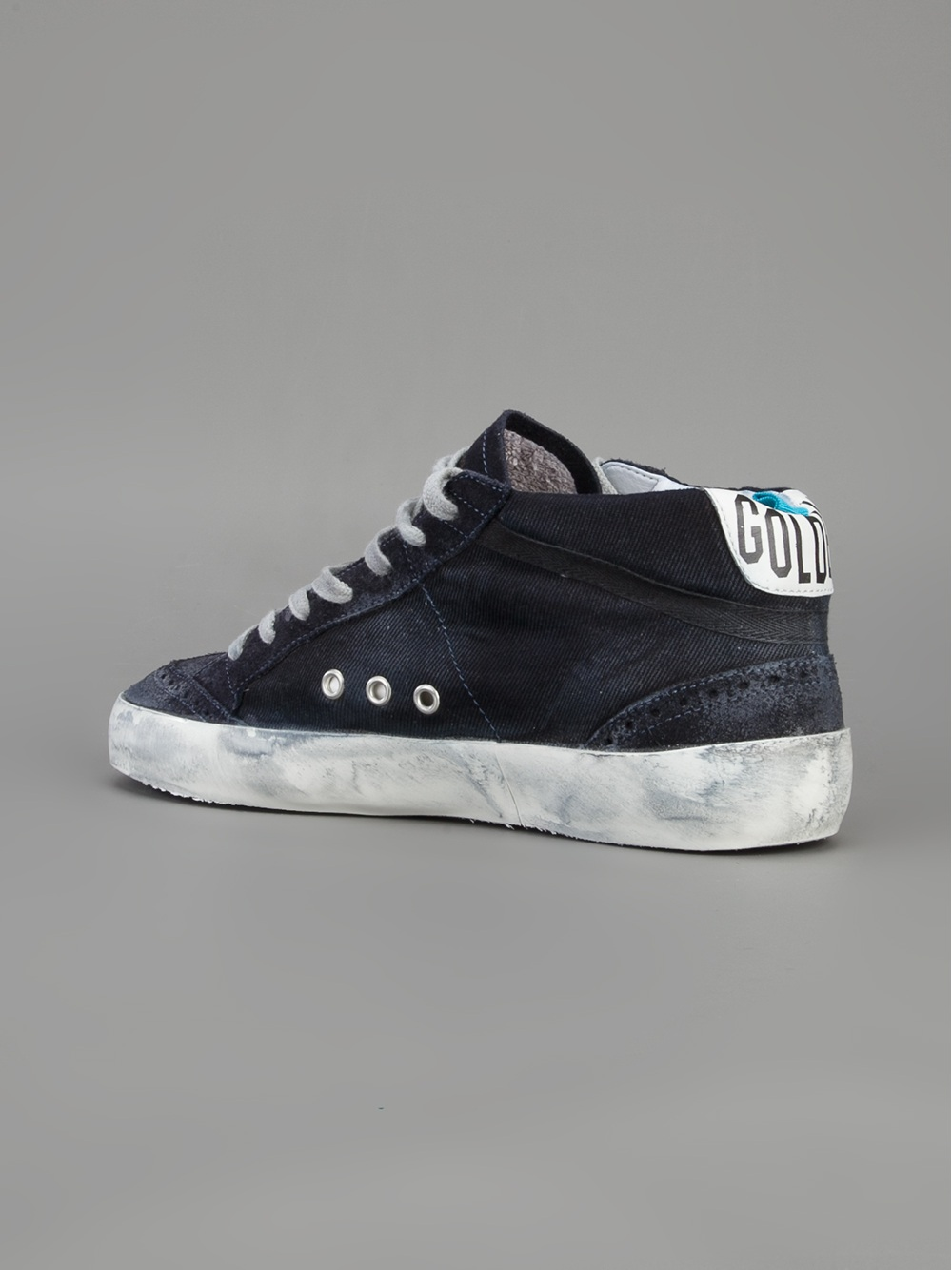 golden goose deluxe brand mid star sneaker in blue for men lyst. Black Bedroom Furniture Sets. Home Design Ideas