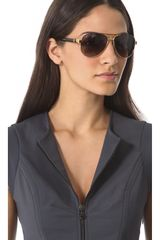 Gucci Aviator Sunglasses with Glitter Temples - Lyst