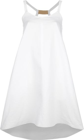 Hache Flared Sleeveless Dress - Lyst