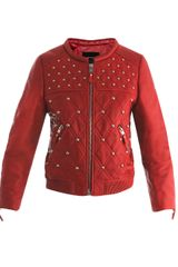 Isabel Marant Bloomen Leather Bomber Jacket - Lyst