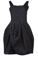 Lanvin Vault Embroidered Sleeveless Dress - Lyst