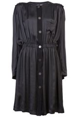 Lanvin Vault Frayed Shirt Dress - Lyst