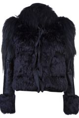 Lanvin Vault Mixed Fur Jacket - Lyst