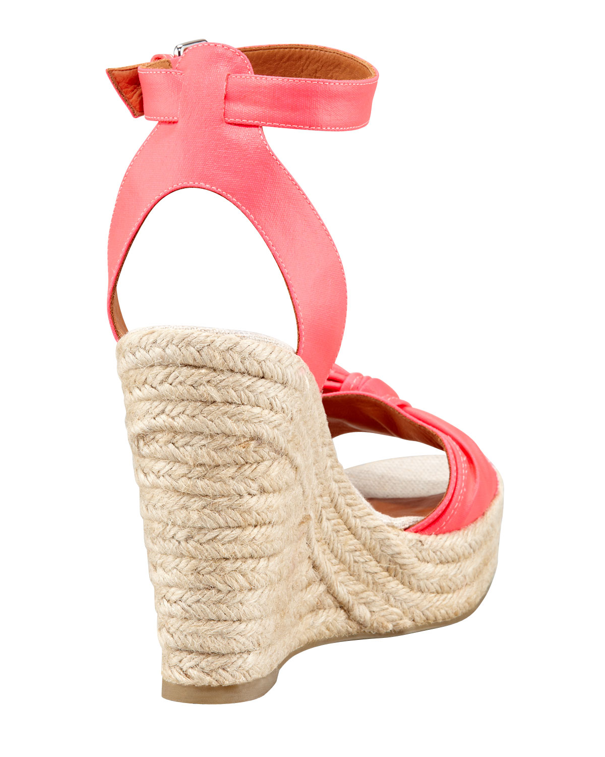 97b9377a73 Lyst - Marc By Marc Jacobs Pretty Knot Neon Canvas Wedge Sandals in Pink