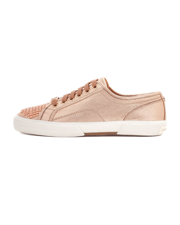 d34510a32 MICHAEL Michael Kors Boerum Metallic Studtoe Sneaker in Natural - Lyst