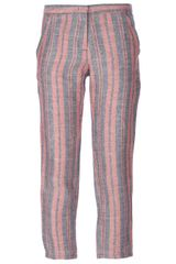 See By Chloé Striped Cropped Trouser - Lyst