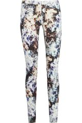 Theyskens' Theory Pittell Printed Cotton-Blend Twill Pants - Lyst