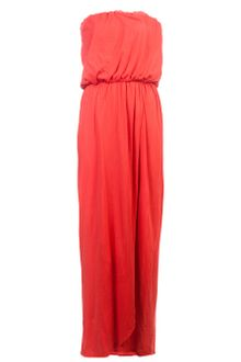 Velvet Strapless Maxi Dress - Lyst