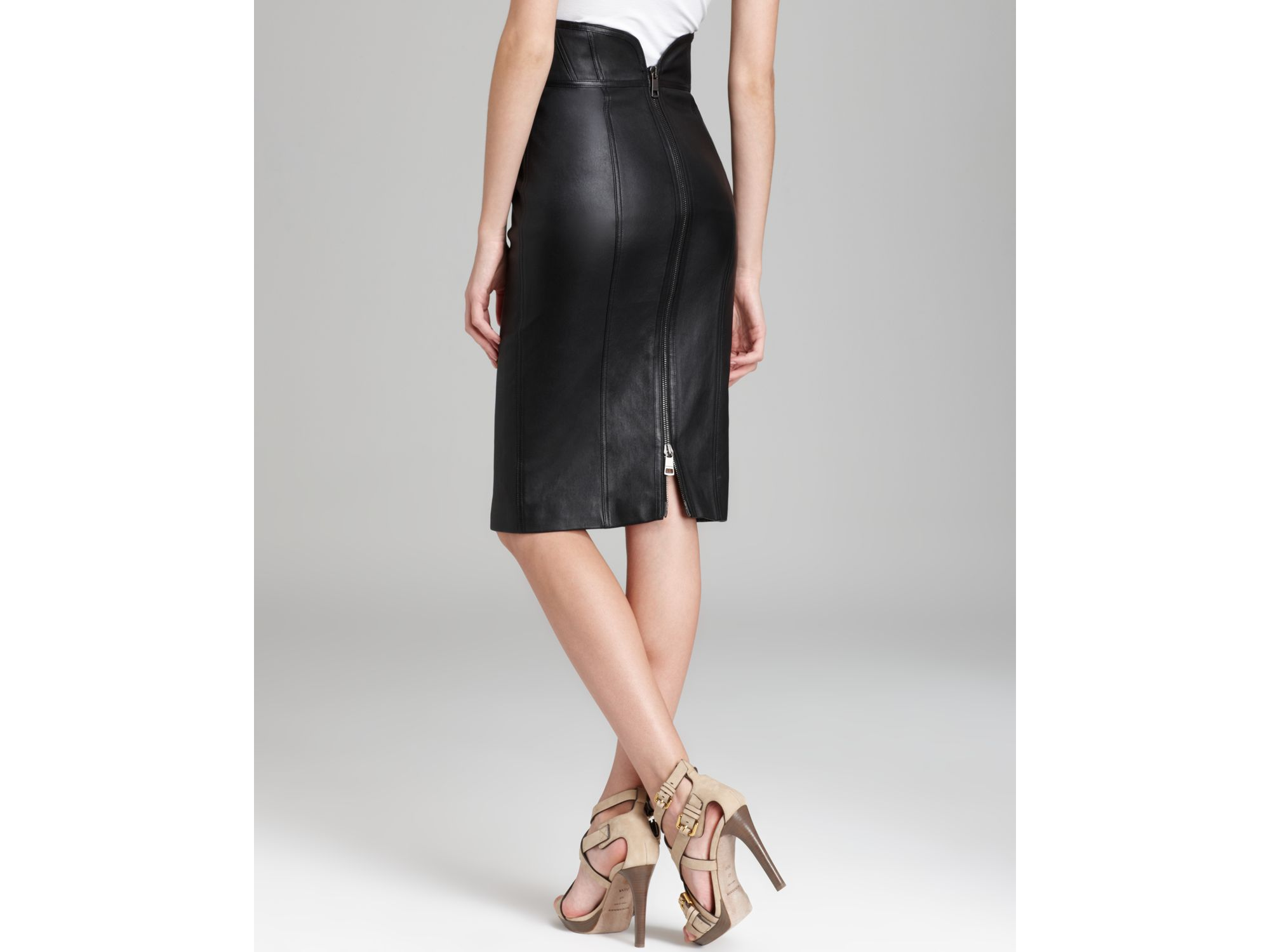 High Waisted Leather Pencil Skirt - Redskirtz