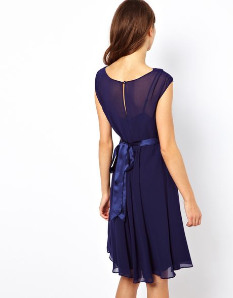 coast dress with embellished belt in blue navy lyst
