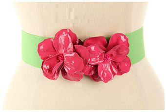 Kate Spade Kissing Fabric Flower Belt - Lyst