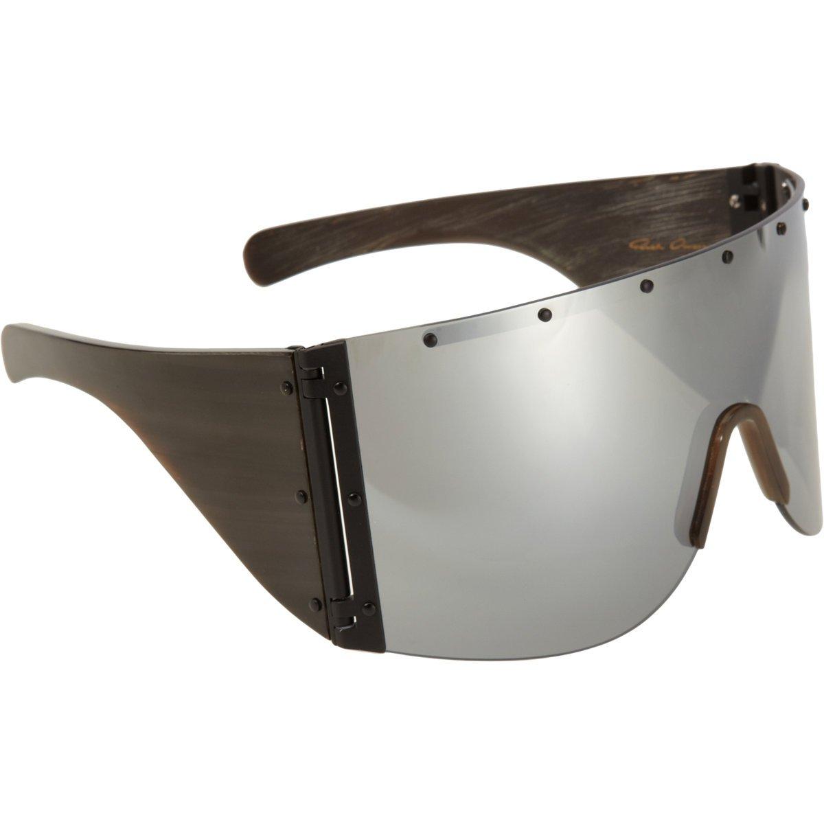 2b7649de537 Rick Owens Oversized Shield Sunglasses in Black for Men - Lyst
