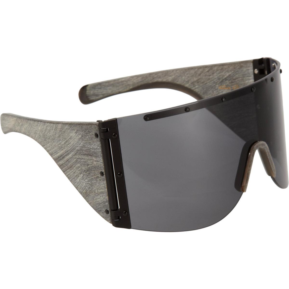 1d3b0374549 Lyst - Rick Owens Oversized Shield Sunglasses in Black for Men