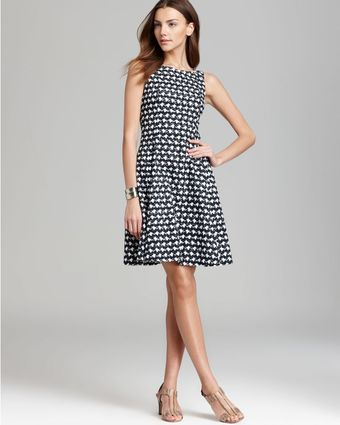 Theory Printed Dress Elexis - Lyst