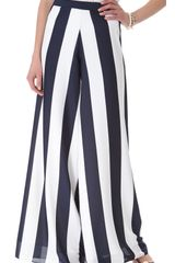 Alice + Olivia Super Flare Striped Pants - Lyst