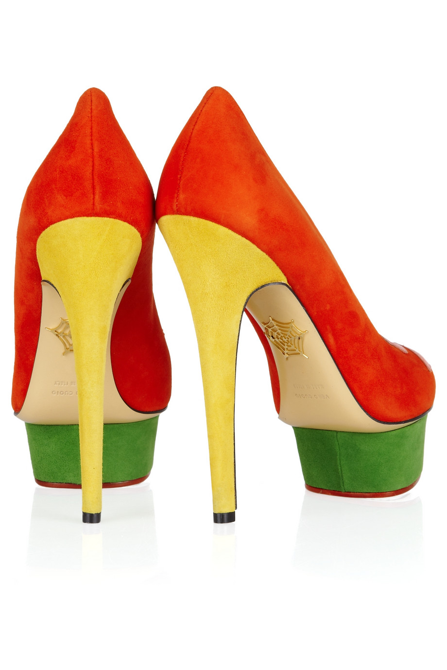 6792c596153b Green And Yellow Heels - Js Heel