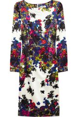 Erdem Irene Floralprint Silksateen Dress - Lyst