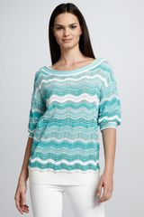 M Missoni Zigzag Stripe Knit Sweater - Lyst