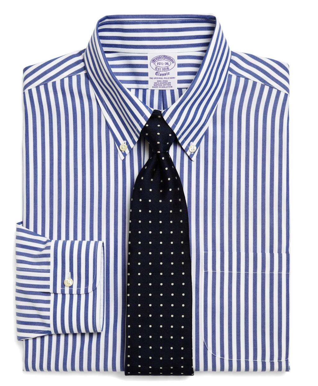 Brooks brothers supima cotton non iron extra slim fit wide for Supima cotton dress shirts