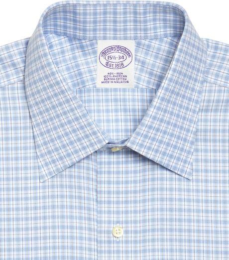 Brooks Brothers Supima Cotton Non Iron Regular Fit Plaid
