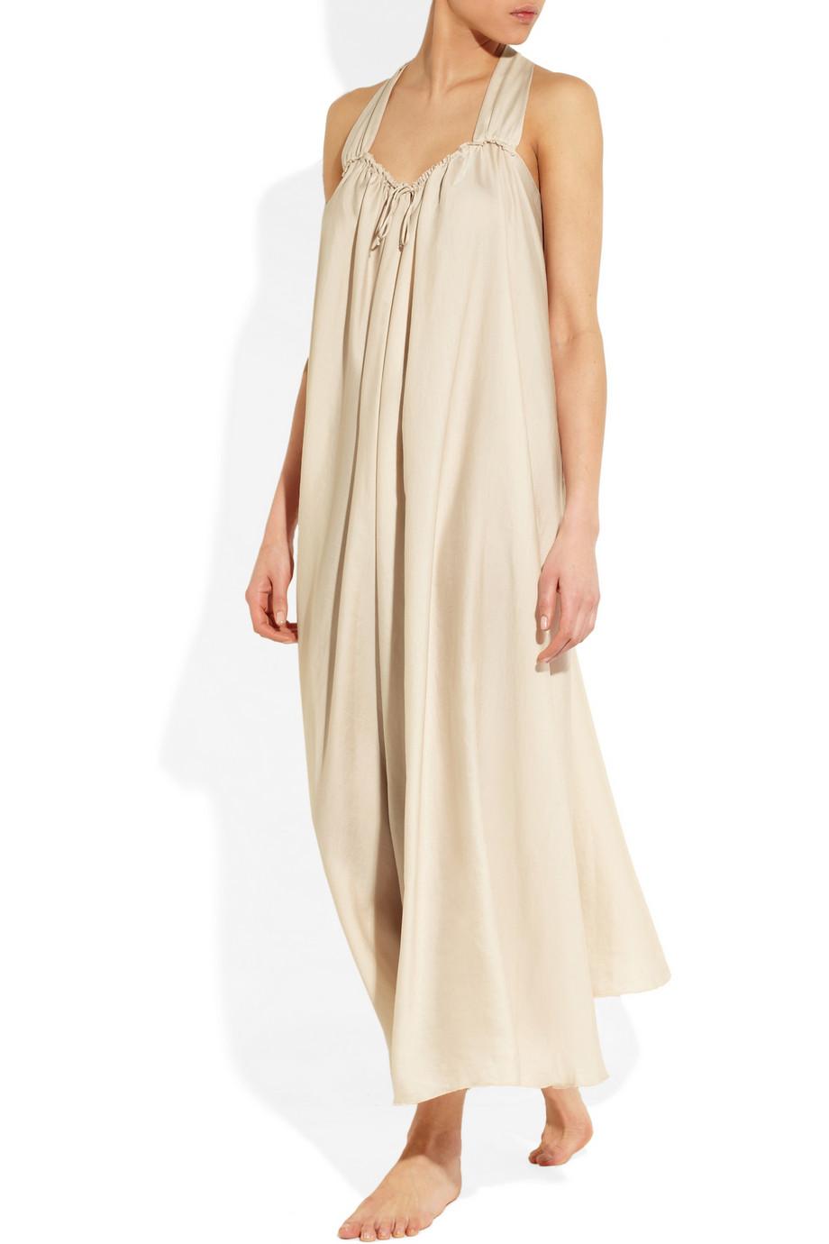 Donna Karan Washed Georgette Nightdress in Pink - Lyst a62610daa