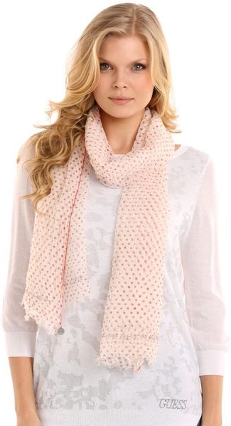 Guess Gale Dots Scarf - Lyst