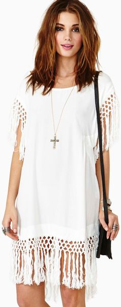 Nasty Gal Wanderlust Fringe Dress - Lyst