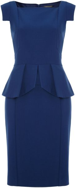 Pied A Terre Sleeve Detail Peplum Dress - Lyst