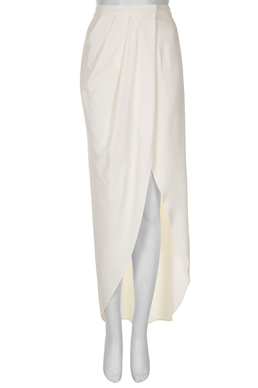 Topshop Wrap Maxi Skirt in White | Lyst
