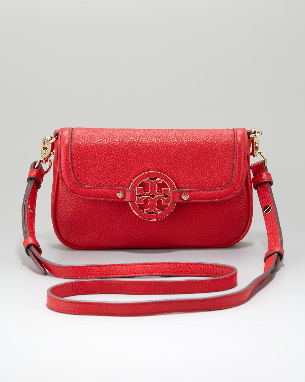 98d88778518 Lyst - Tory Burch Cross Body Bag in Red