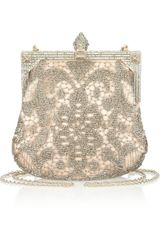 Valentino Embellished Tulle and Satin Shoulder Bag