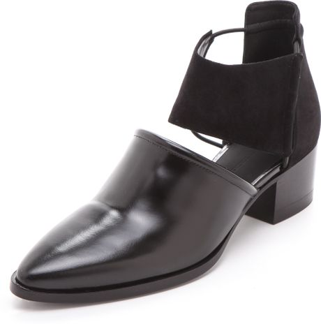 alexander wang nadine ankle booties in black lyst. Black Bedroom Furniture Sets. Home Design Ideas