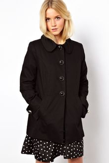 ASOS Collection Asos Aline Button Coat - Lyst