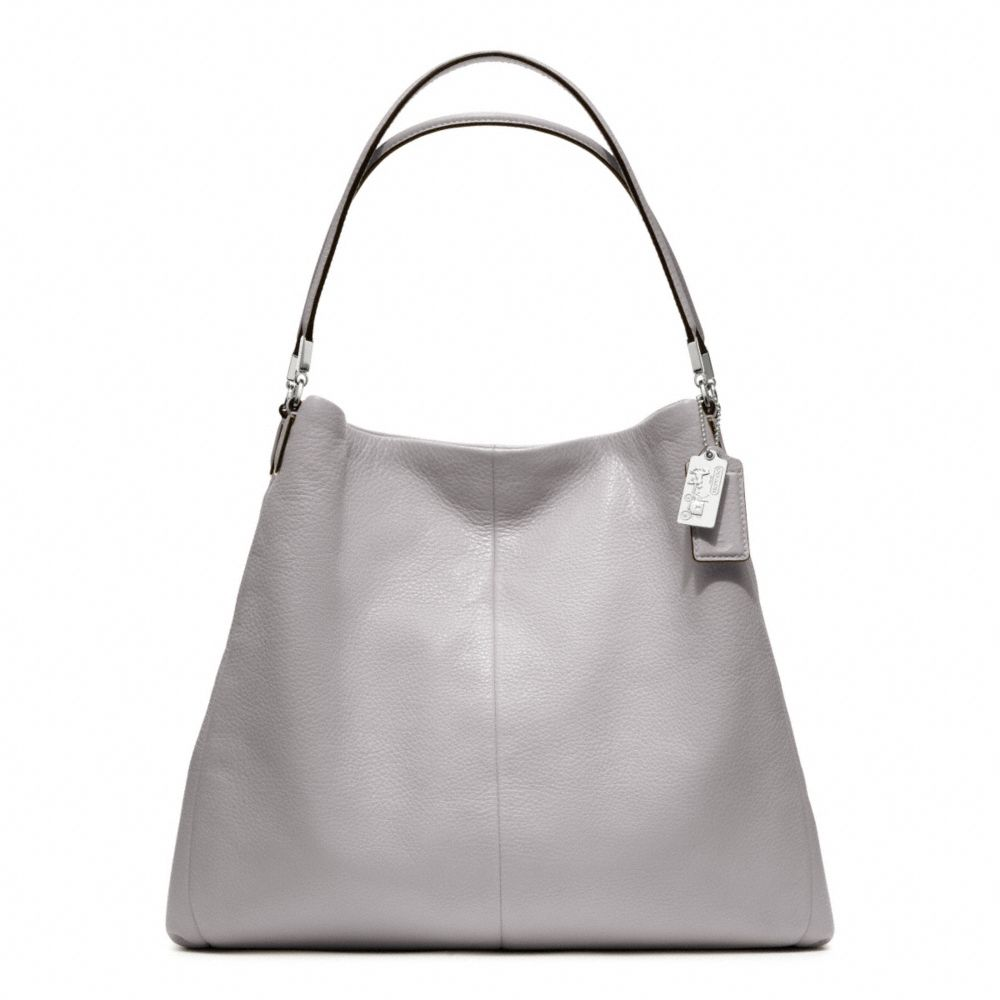 2f91a30f61 Lyst - COACH Madison Leather Phoebe Shoulder Bag in Gray
