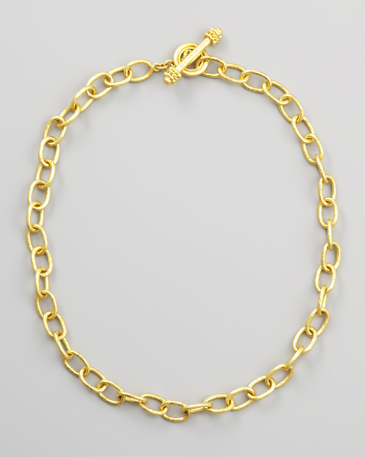 Elizabeth Locke Volterra 19k Gold Link Necklace, 17L