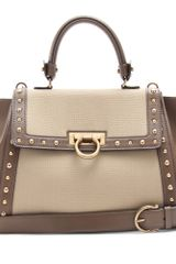 Ferragamo Sofia Studded Shoulder Bag - Lyst