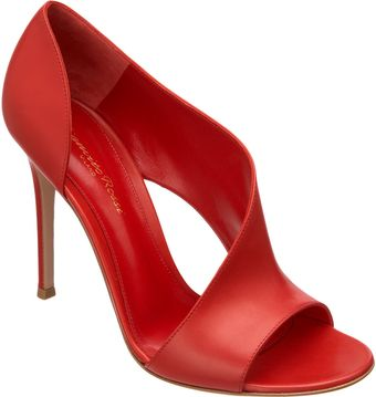 Gianvito Rossi Open Toe Asymmetrically Covered Sandal - Lyst