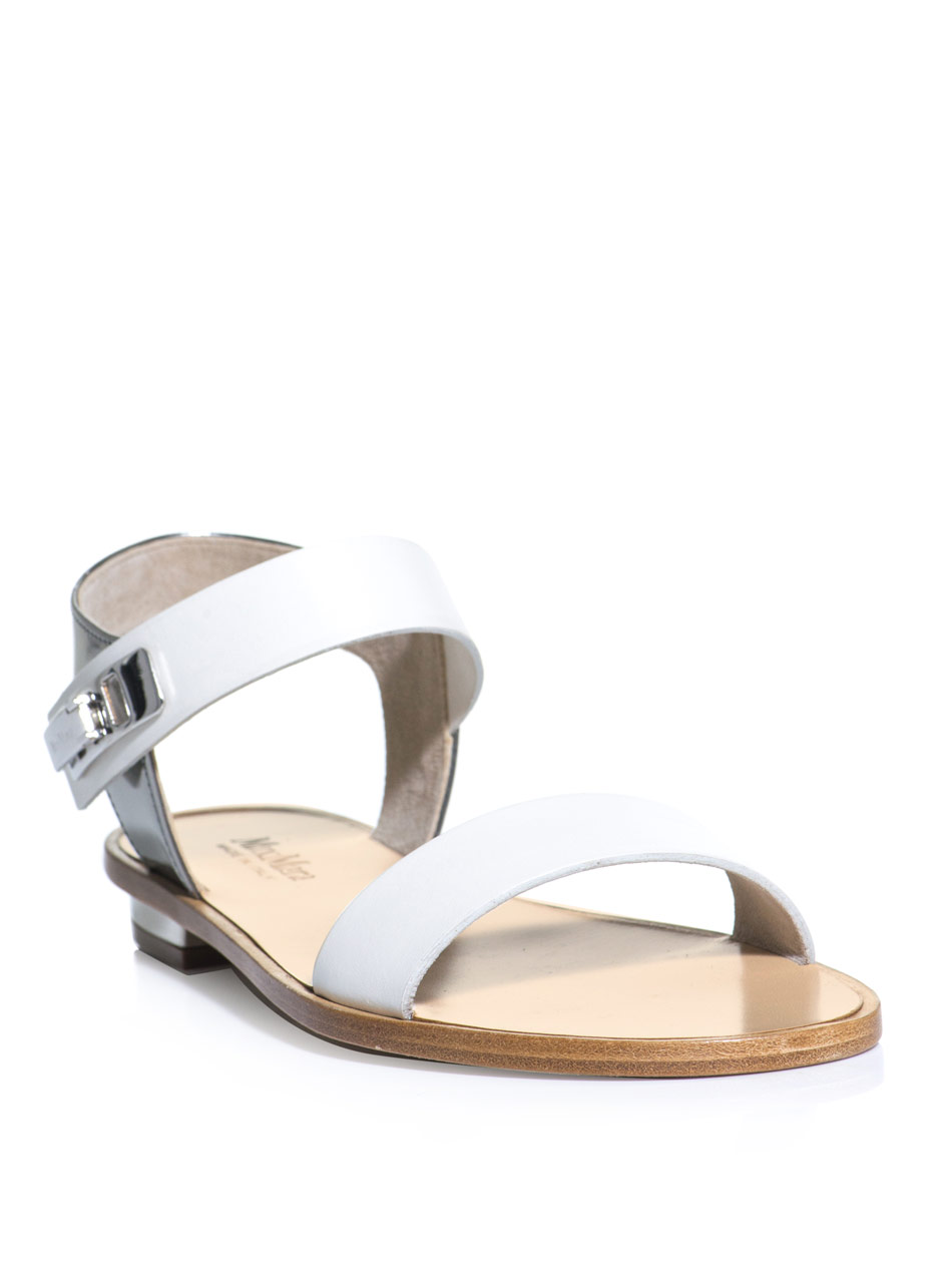 Lyst Max Mara Urago Sandals In White