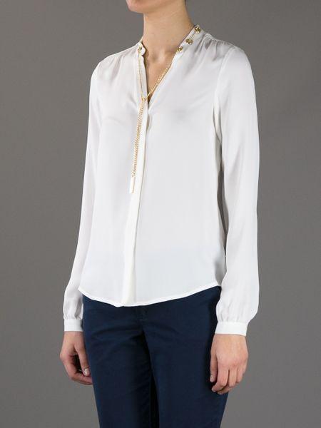 Michael Kors White Silk Blouse 69