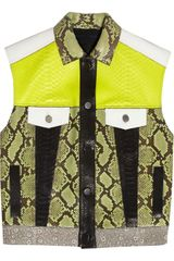 Proenza Schouler Rubberized Python and Lizard Vest - Lyst
