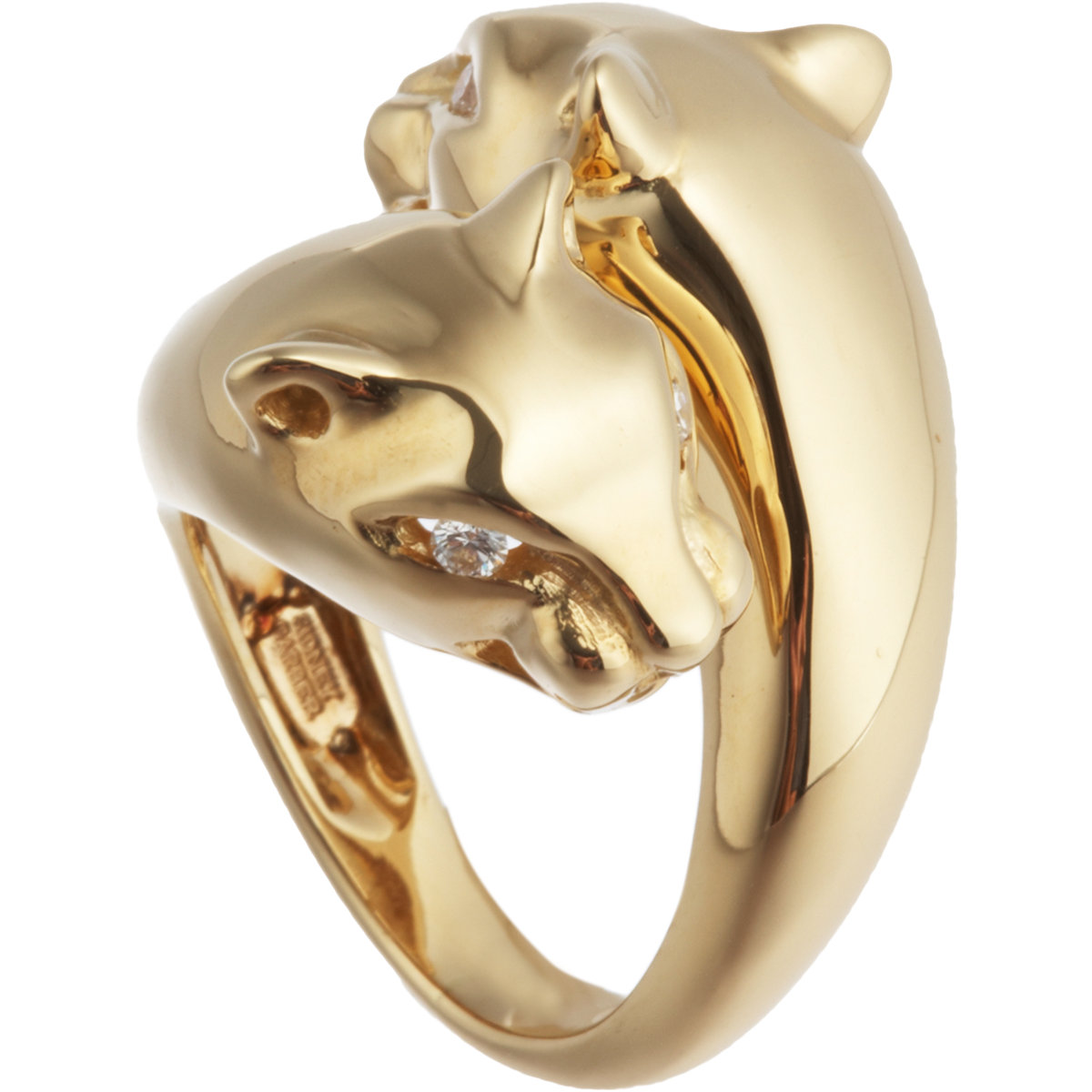 sidney garber panther ring in gold yellow lyst