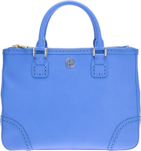 Tory Burch Robinson Spectator Bag in Blue - Lyst